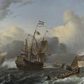 The Eendracht And A Fleet Of Dutch Men Of War by PixBreak Art