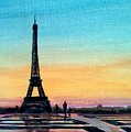 The Eiffel Tower At Sunset by Richard John Holden RA