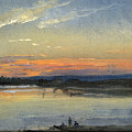 The Elbe In Evening Light by Johan Christian Dahl