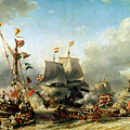 The Embarkation of Ruyter and William de Witt in 1667 by Louis Eugene Gabriel Isabey