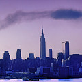 The Empire State Building In New York At 6 A. M. In January by Yuri Lev