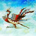 The Empress - Flight Of Phoenix - Blue Version by Peter Awax