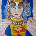 The Empressa  Of Hearts Angel Of Grace Beauty And Devotion by Joan Hangarter