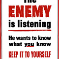 The Enemy Is Listening - Ww2 by War Is Hell Store