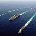 The Enterprise Carrier Strike Group by Stocktrek Images