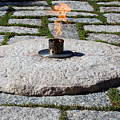 The Eternal Flame At President John F. Kennedy's Grave by Cora Wandel