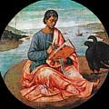 The Evangelist John At Patmos by Francesco Granacci