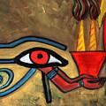 The Eye Of Horus by Pilar  Martinez-Byrne