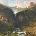 The Falls Of Tivoli With The Temple Of Vesta  by MotionAge Designs