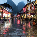 The Famous West Street In Yangshuo Near Guilin In South China by Didier Marti