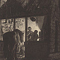 The Farrier's Shop by William Pether After Joseph Wright Of Derby