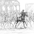The Favorite - Horse Racing Art Print by Kelli Swan