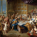 The Feast Of Dido And Aeneas. An Allegorical Portrait Of The Family Of The Duc And Duchesse Du Maine by Francois de Troy