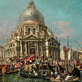 The Feast Of The Madonna Della Salute In Venice by Francesco Zanin