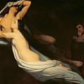 The Figures Of Francesca Da Rimini And Paolo Da Verrucchio Appear To Dante And Virgil by Ary Scheffer