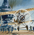 The First Deck Landing by Wilf Hardy