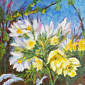 The First Flowers After Winter by Olga Malamud-Pavlovich