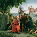 The First Landing Of Christopher Columbus by Dioscoro Teofilo Puebla Tolin