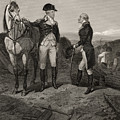 The First Meeting Of George Washington And Alexander Hamilton by Alonzo Chappel