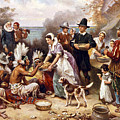 The First Thanksgiving by American School