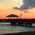 The Fishing Dock At Sunset by Rosalie Scanlon