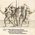 The Flagellation by Augustin Hirschvogel