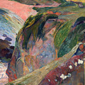 The Flageolet Player On The Cliff by Gauguin