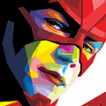 The Flash Colorful Pop Art by Madiaz Roby