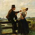 The Flirtation by Adolf Alexander Dillens