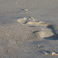 The Footprint Of Invisible Man On The Sand by Yoel Koskas