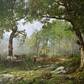 The Forest Of Fontainebleau by Leon Richet