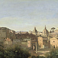 The Forum Seen From The Farnese Gardens by Jean Baptiste Camille Corot