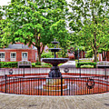 The Fountain At Radford University by Kerri Farley