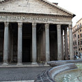 The Fountain In Front Of Pantheon by Munir Alawi