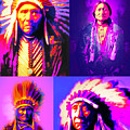 The Four Chiefs Three Horses Sitting Bull Geronimo Red Cloud by Wingsdomain Art and Photography