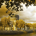 The Four Courts In Reconstruction Sepia by Alex Art and Photo