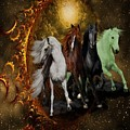 The Four Horses Of The Apocalypse by Ali Oppy