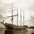 The Four-masted Barkentine  Jane Stanford Built By Hans Bendixse 1892 by California Views Archives Mr Pat Hathaway Archives