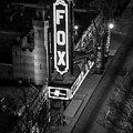 The Fox Thearter Bw Atlanta Night Art by Reid Callaway