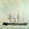The French Battleship by Francois Geoffroy Roux