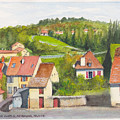 The French Village Of Billy In The Auvergne by Dai Wynn