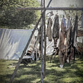 The Fur Trader's Camp 1812 by Leslie Montgomery