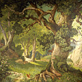 The Garden Of The Magician Klingsor, From The Parzival Cycle, Great Music Room by Christian Jank