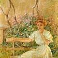 The Garden Seat 1911 by Reid Robert Lewis