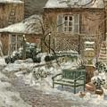 The Garden Under Snow by Eugene Chigot