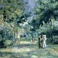 The Gardens In Montmartre by Pierre Auguste Renoir
