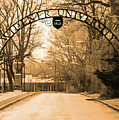 The Gate At Widener University by Bill Cannon