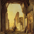 The Gates Of El Geber In Morocco by Francois Antoine Bossuet