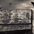 The Gathering - Vultures Above An Old Barn by Mitch Spence