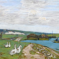 The Geese by Alfred Sisley
